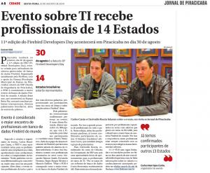 Materia Jornal Piracicaba
